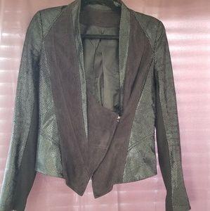 Black Multi-Texture Blazer Jacket